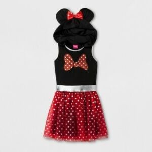 Hooded Minnie Mouse Dress for Everyday or Costume/